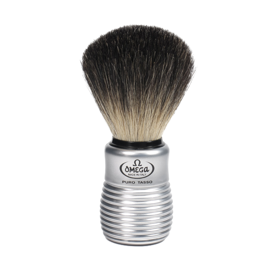 Omega 66230 - Omega Black Badger Shaving Brush with Stand