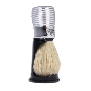 Omega 80080 - Silver Beehive Handle Boar Shaving Brush w/ Stand