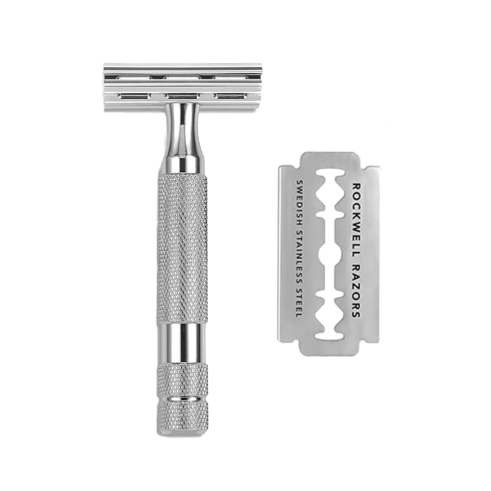 ROCKWELL RAZORS 2C DOUBLE EDGE RAZOR - WHITE CHROME