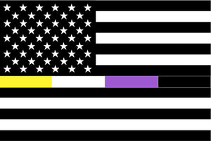 Black White Non-Binary American Flag Sticker