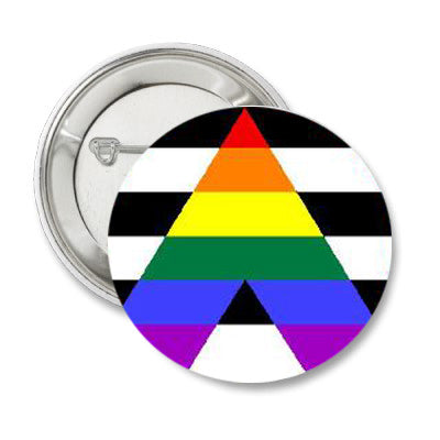 Straight Ally Pride Pin Button