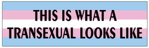 This Is What A Transsexual Looks Like Bumper Sticker