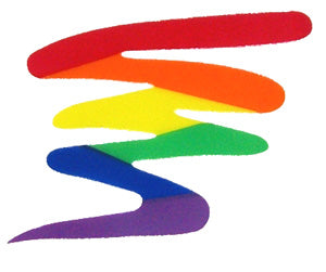 Rainbow Squiggle Cling Sticker