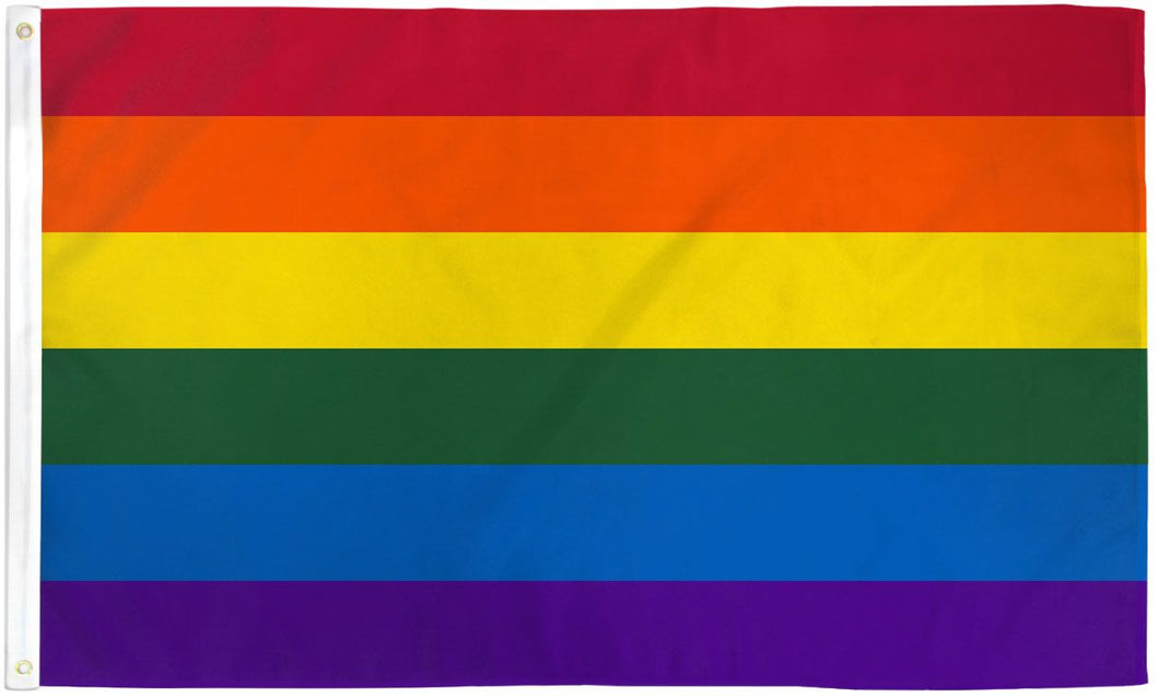 Rainbow Gay Pride Flag 5ft x 8ft Printed Polyester