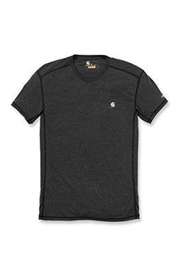 Carhartt Men's 102960 Force Extremes Short Sleeve T-Shirt - X-Large - Black/Black Heather