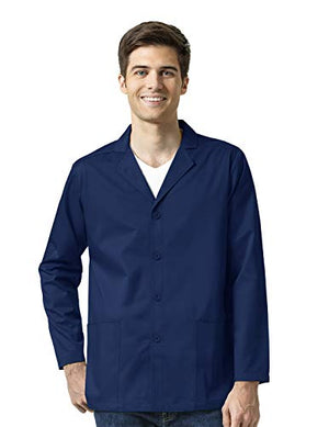 WonderWork Men's Scrub Blazer, Navy, Medium