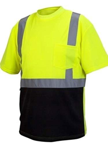Rugged Outfitters 66702 Hi-Vis Safety Shirt with Moisture Wicking Mesh (Safety Green, X-Large Tall)