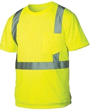 Rugged Outfitters 66301 Class 2 Hi Vis Safety T-Shirt (Safety Green, X-Large Tall)