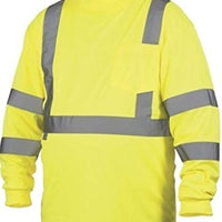 Rugged Outfitters Class 3 Long Sleeve T-Shirt Hi-Vis Safety Green (Safety Green, 2X-Large Tall)