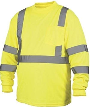 Rugged Outfitters 68501 Class 3 Long Sleeve T-Shirt Hi-Vis Safety Green 2X-Large Tall