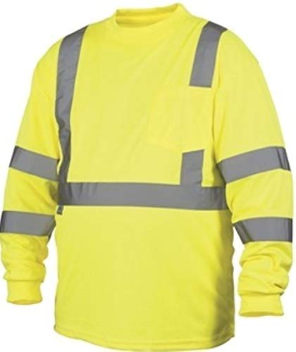 Rugged Outfitters Class 3 Long Sleeve T-Shirt Hi-Vis Safety Green (Safety Green, Large Tall)
