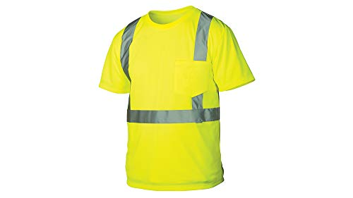 Rugged Outfitters 66301 Class 2 Hi Vis Safety T-Shirt (Safety Green, 3X-Large)