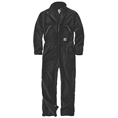 Carhartt Men's 104396 Washed Duck Insulated Coveralls - X-Large - Black