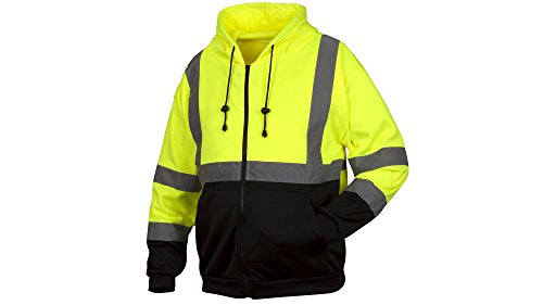 Rugged Outfitters Hi-Vis Full Zip Sweatshirt Style 70792 (Safety Green, 3X-Large Tall)