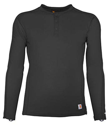 Carhartt MBL113 & MBL114 Men's Force Midweight Classic Henley Thermal Base Layer Long Sleeve Shirt