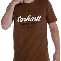 Carhartt Men's 104181 Made to Last Explorer Graphic T-Shirt - Medium Regular - Oiled Walnut Heather