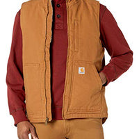 Carhartt 104277 Men's Sherpa Lined Mock-Neck Vest