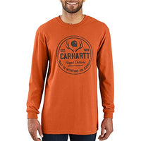 Workwear Hunt Rugged Outdoors Graphic Long Sleeve T-Shirt - Amberwood Heather