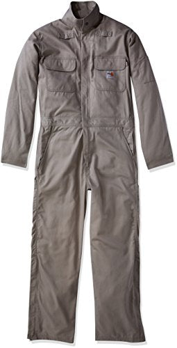 Carhartt Men's Big and Tall Big & Tall Flame Resistant Deluxe Coverall, Gray, 3X-Large/Short