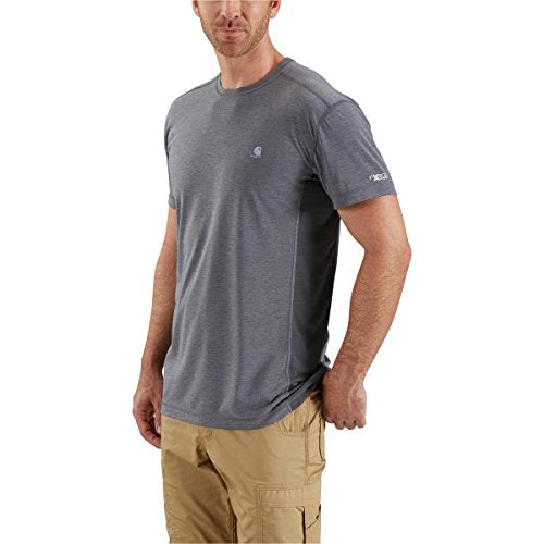 Carhartt Men's 102960 Force Extremes Short Sleeve T-Shirt - Large - Shadow Heather/Shadow