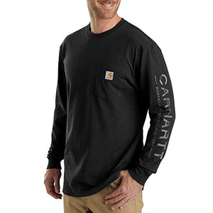 Carhartt Men's 103303 Workwear Core Graphic Long Sleeve T-Shirt - XXXX-Large - Black