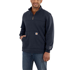 Carhartt Men's Rain Defender Paxton Heavyweight Quarter-Zip Sweatshirt 3Xlarge Navy