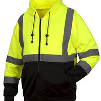Rugged Outfitters Hi-Vis Full Zip Sweatshirt Style 70792 (Safety Green, X-Large)