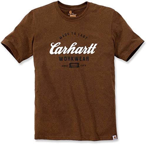 Carhartt Men's 104181 Made to Last Explorer Graphic T-Shirt - Large Regular - Oiled Walnut Heather