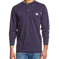 Carhartt 100237 Men's Big & Tall Flame Resistant Force Cotton Long Sleeve Henley