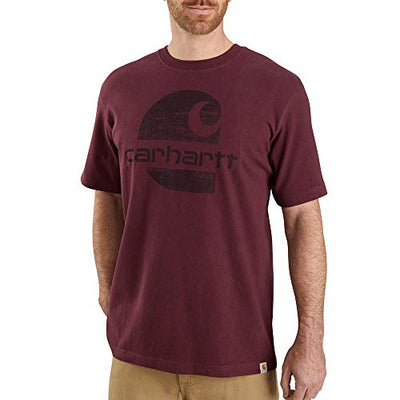Carhartt Men's 104387 Heavyweight Logo Graphic T-Shirt - Large - Port