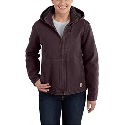 Carhartt Women's 101762 Women's Full Swing™ Sandstone Winn Jacket - X-Small Regular - Deep Wine