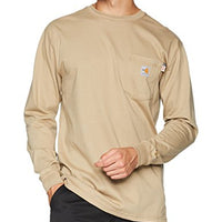 Carhartt Men's Flame Resistant Force Cotton Long Sleeve T Shirt