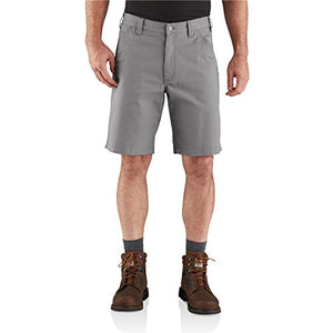 Carhartt Men's 104195 Rugged Flex Loose Fit Canvas Work Short - 10 Inc - 40 - Asphalt