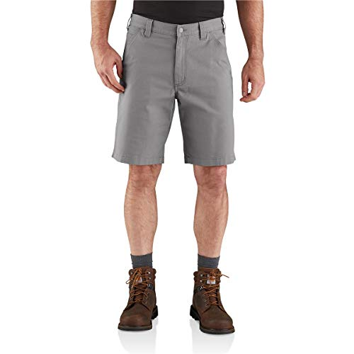 Carhartt Men's 104195 Rugged Flex Loose Fit Canvas Work Short - 10 Inc - 36 - Asphalt