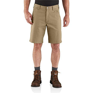 Carhartt Men's 104195 Rugged Flex Loose Fit Canvas Work Short - 10 Inc - 48 - Dark Khaki