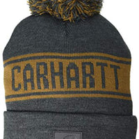 Carhartt 104487 Men's Knit pom Graphic Hat