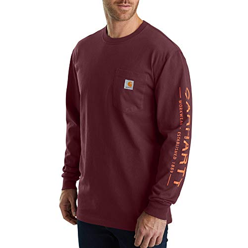 Carhartt Men's 103303 Workwear Core Graphic Long Sleeve T-Shirt - XXXX-Large - Port
