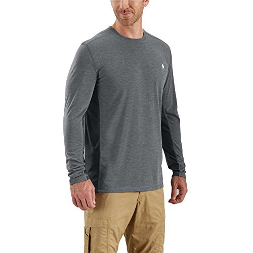 Carhartt 102998 Men's Force Extremes Long Sleeve T-Shirt - XXX-Large - Shadow Heather/Shadow