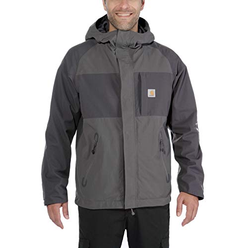 Carhartt 102990 Men's Angler Jacket - Small - Gravel/Shadow