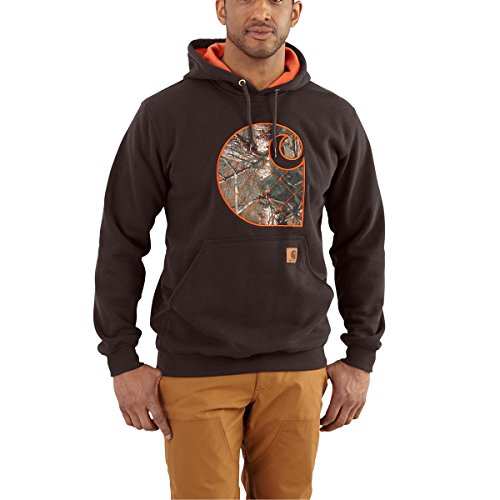 Carhartt 102275 Men's Rain Defender Avondale Midweight Applique C Swea - XX-Large - Dark Brown