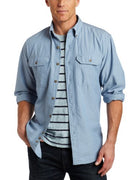 Carhartt S202 Men's Big & Tall Fort Long Sleeve Shirt Lightweight Chambray Button Front Relaxed Fit