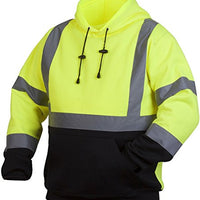 Rugged Outfitters 70798 Hi-Vis Lime Safety Pullover Sweatshirt with Black Bottom