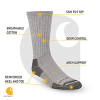 Carhartt A62-3 All-season Cotton Crew Work Socks