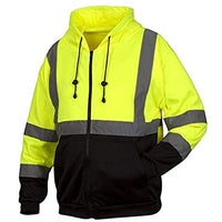 Rugged Outfitters 70792 Hi-Vis Full Zip Sweatshirt 2X-Large Tall