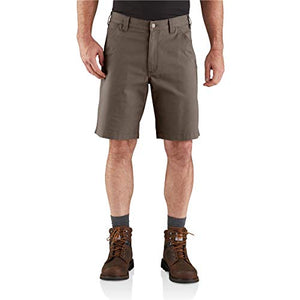 Carhartt 104195 Men's Rugged Flex Loose Fit Canvas Work Short - 10 Inc - 33W - Tarmac