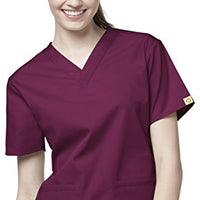 Origins Women's Bravo 6016 5 Pocket V-Neck Scrub Top by, Wine, Size XXX-Large