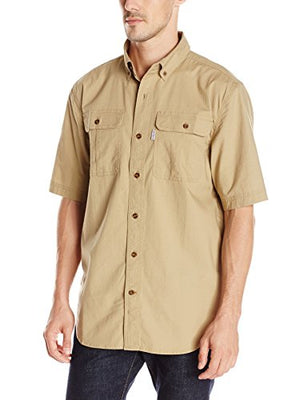 Carhartt Men's Short Sleeve Solid Work Shirt