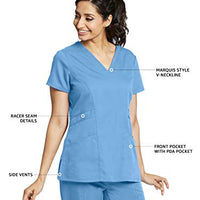 Grey's Anatomy 41452 3-Pocket V-Neck Top for Women– Modern Fit Medical Scrub Top