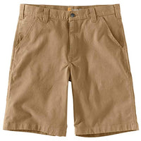 Carhartt Men's 104195 Rugged Flex Loose Fit Canvas Work Short - 10 Inc - 33 - Dark Khaki