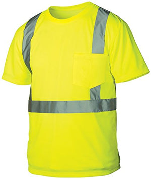 Rugged Outfitters 66301 Class 2 Hi Vis Safety T-Shirt (Safety Green, Medium)